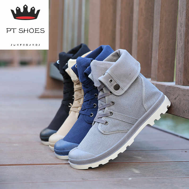 6a72dc5752 2017 New 4 Colors Men Palladium Style Fashion High-top Military Ankle Shoes  Comfortable Leather