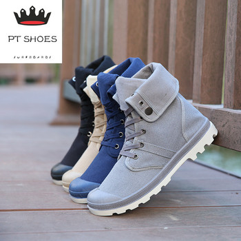 2017 New 4 Colors Men Palladium Style Fashion High-top Military Ankle Shoes Comfortable Leather Shoe Casual Shoes men shoes Обувь
