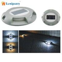 Lumiparty 4LED солнечной энергии света подземный свет IP65 Водонепроницаемый Спайк лампы подводный светильник солнечный свет власти