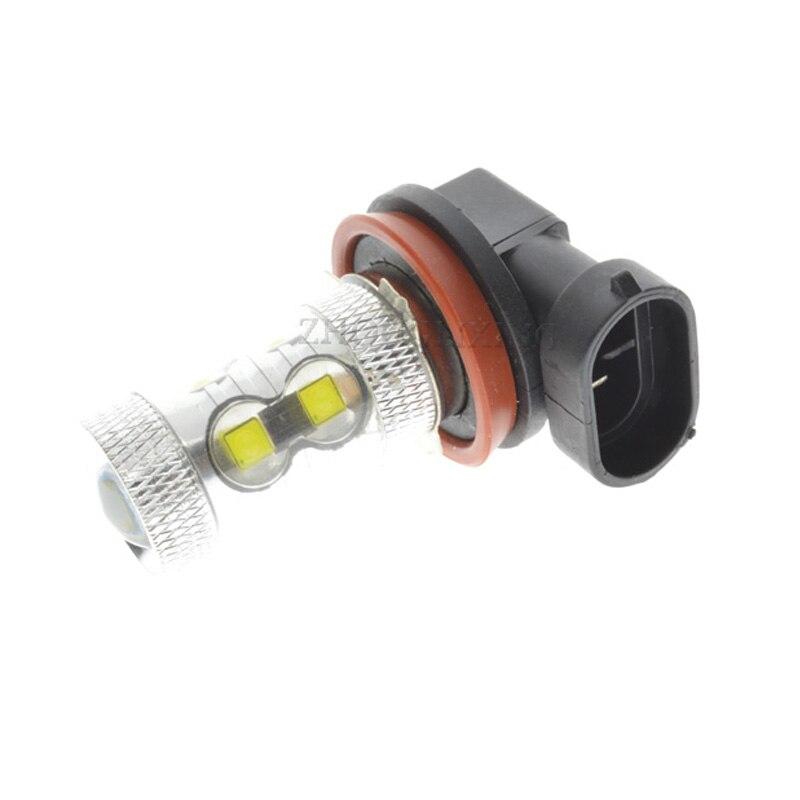 H11 10W 10led Xenon White LED SMD Car Auto Driving Fog Lights Headlight DRL Daytime Running Lamp Bulb Car Light Source 12V-24V