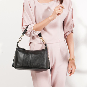 Image 2 - Zency Fashion Female Shoulder Bag 100% Natural Leather Women Handbag With Tassel Lady Messenger Crossbody Purse Small Bags Tote