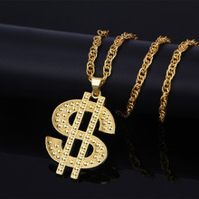 1pc Hip hop dollar sign necklace Street dance hipster fashion For Men Women Jewelry Dropshiping