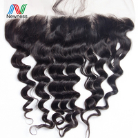 Newness Hair Indian Loose Wave Lace Frontal Closure Raw Indian Hair 13*4 Free Part Ear To Ear Lace Frontal With Baby Hair