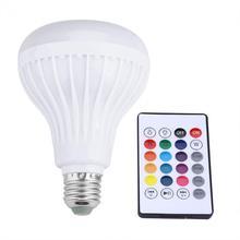 Wireless Bluetooth Speaker Bulb Light 12W LED RGB Smart Music Play Lamp Remote Control lampada led