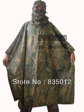 Waterproof Realtree Raincoat poncho Ghillie Tent Mat for Hunting Cycling Camping Hiking Camouflage