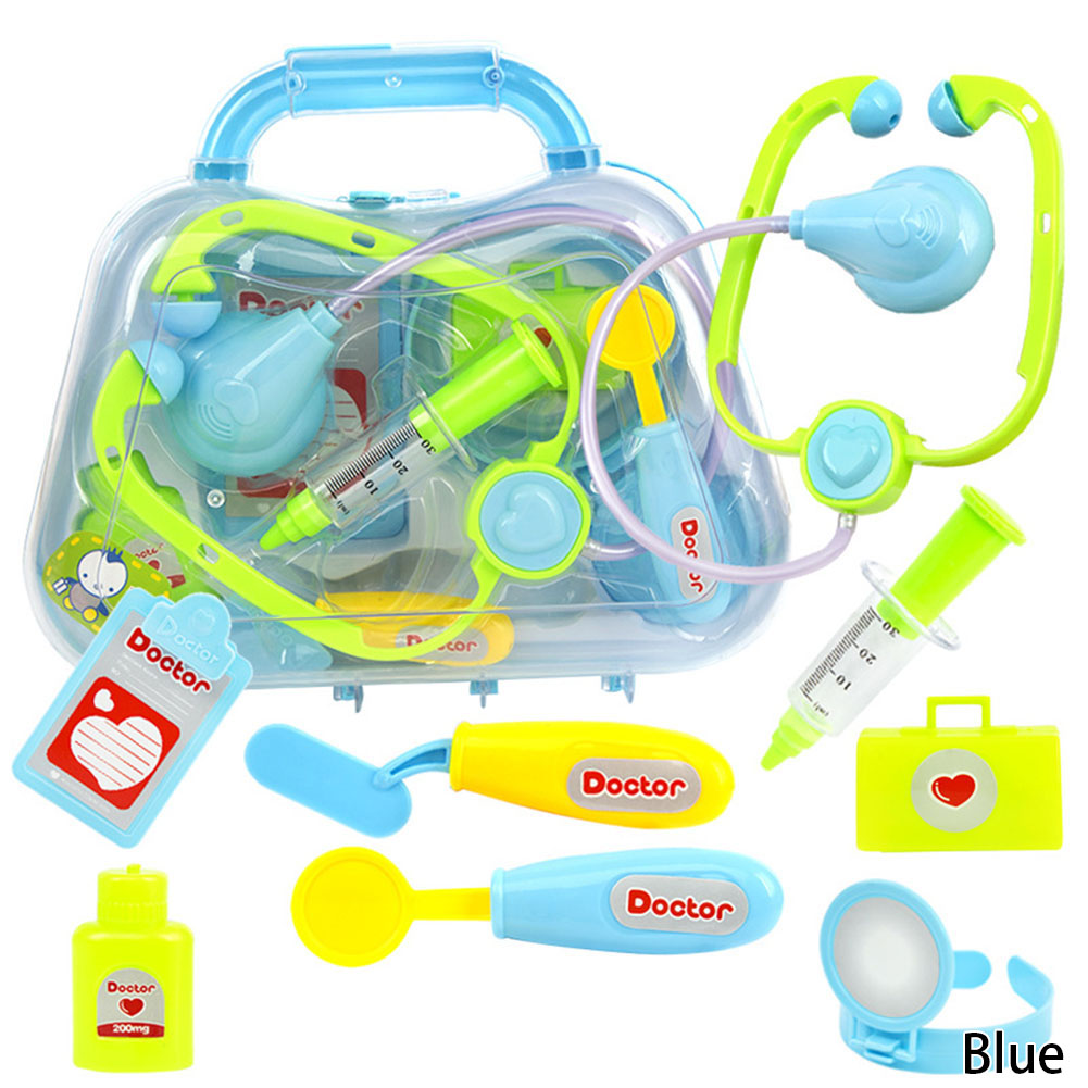 8pcs/Set child medical kit doctor toys for girls kids role play pretend play doctor play set classic toys simulation hospital