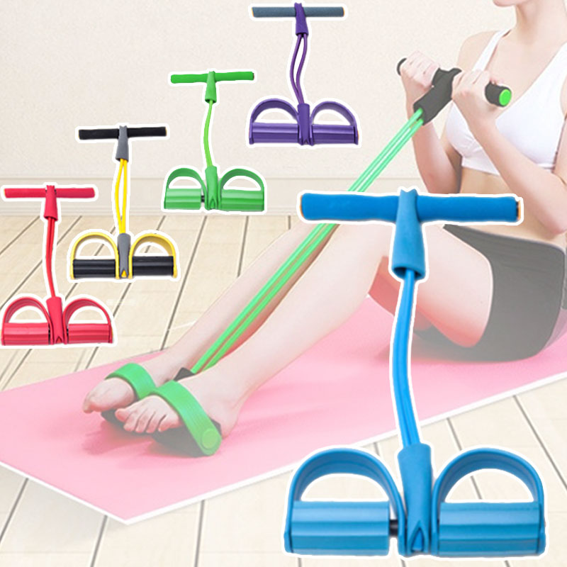 Dynamic Pedal Bodybuilding Expander Latex Tube Foot Elastic Pull Rope Slimming Indoor Sports Equipment ASD88