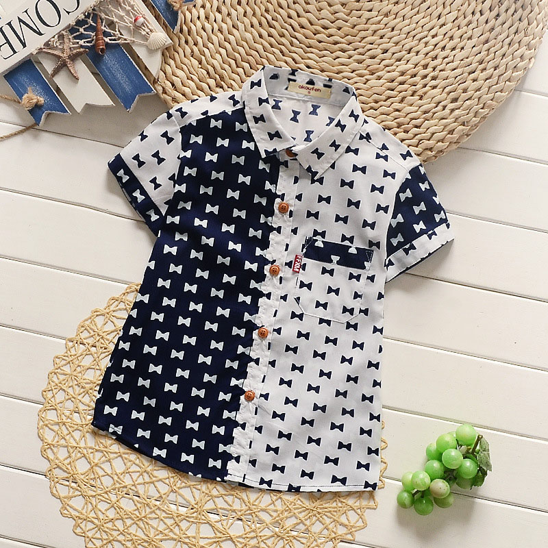 okoufen 2018 new fashion baby boys shirts summer short sleeve kids shirt best quality children clothes for boys retail