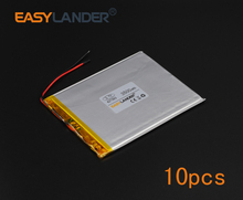 10pcs/Lot 3.7V 3500mAh Polymer Li-ion Battery For Tablet PC Power Bank PDA Portable DVD Consumer electronics safety lamp 427093