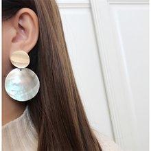 IPARAM 2019 mode boucles d'oreilles pour femmes coquille ronde boucles d'oreilles en métal charmant bohème boucles d'oreilles pour les femmes