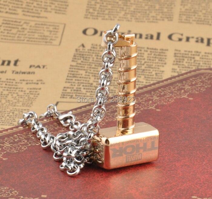 Fashion Jewelry Hot Thor Hammer Necklace Thor The Dark World Movie Charm Jewelry 2016,original factory supply