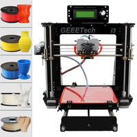 (Ship from Germany) Geeetech 3D Printer Prusa I3 Dual extruder MK8 LCD control panel support SD card