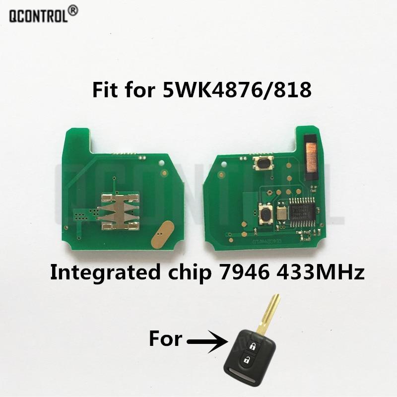 QCONTROL Car Remote Key Circuit Board For NISSAN Cabstar F24M Micra K12 Navara D40M Note E11 NV200 M20M Patrol Y61 Qashqai J10