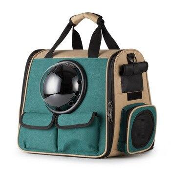 2019 New Canvas Backpack Dog Cat Carrying Bags Portable Travel Outdoor Pet Kennels Crate Handbags Pet Supplies Shoulder Bags Dec