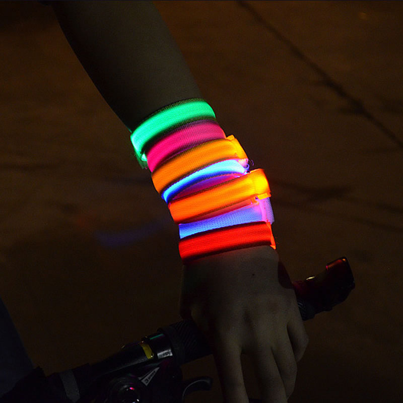 10pcs Fashion Party Concert Bracelets LED Glow in Dark Nylon LED Bracelets for party bars night culb