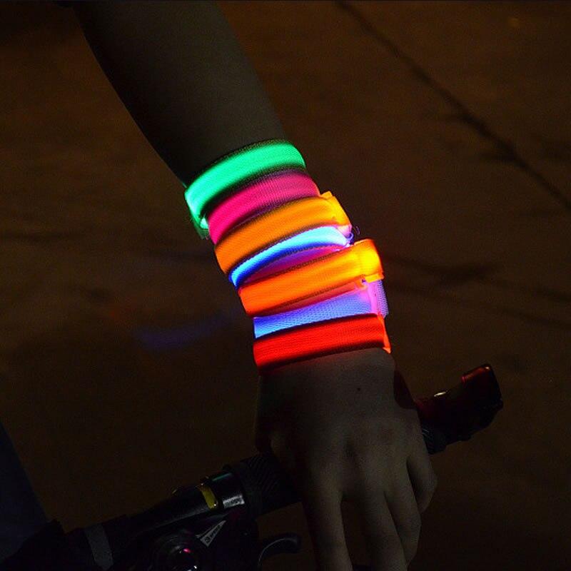 10pcs Fashion Party Concert Bracelets LED Glow In Dark Nylon LED Bracelets For Party Bars Night Culb