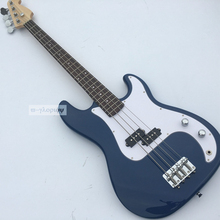 High Quality 4 string Electric Bass guitar,With Full maple body,Rosewood guitars.Chinese guitarras,Blue