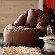 LEVMOON beanbag sofa lounger bean bags chair living roon sitzac just beanbag cover without the filling(China)