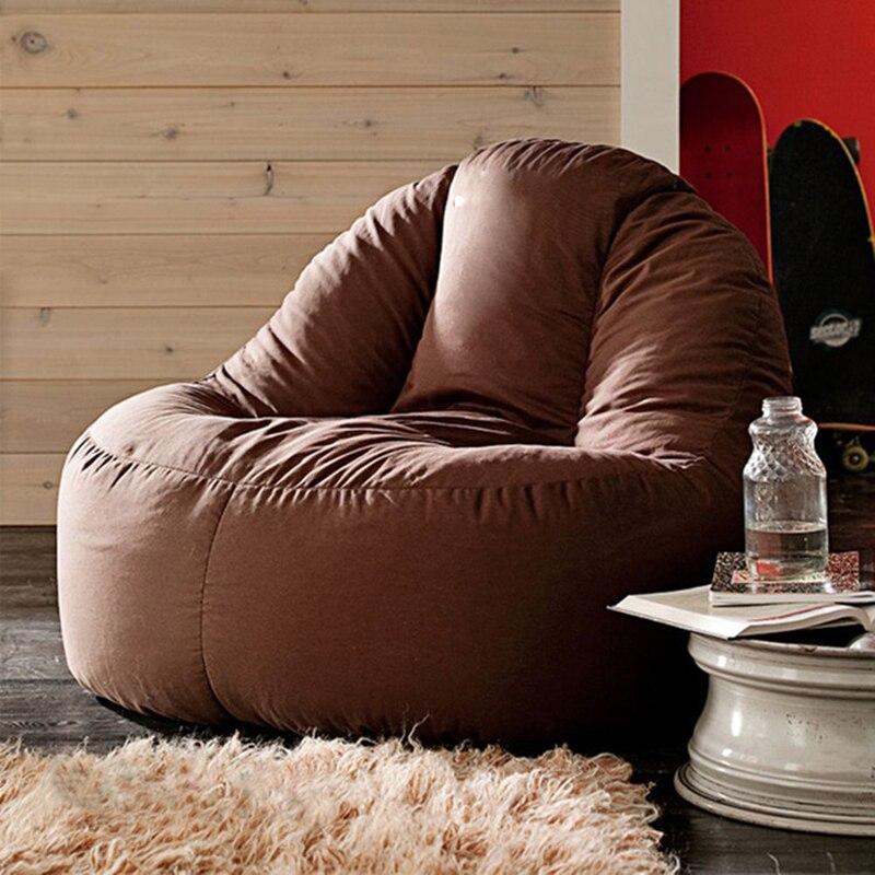 LEVMOON pouf canapé chaise bean sacs chaise roon de vie sitzac juste pouf couverture sans remplissage