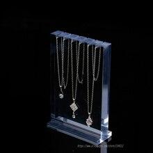 Высокое качество прозрачный толстый акриловый стенд для ожерелий стеллаж для выставки товаров 6-Цепочки и ожерелья выставочного стенда браслет, драгоценности, на витрине полка