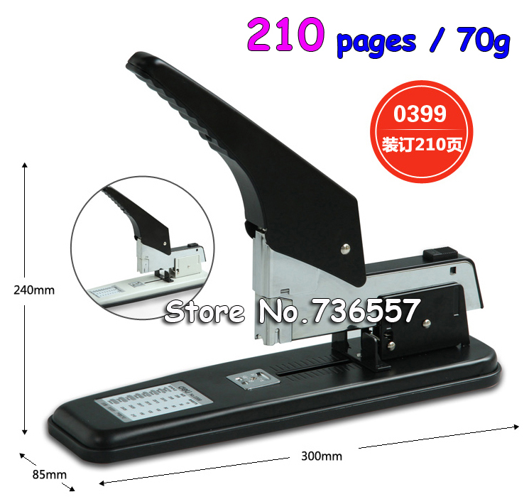 Right hand thick layer of heavy duty stapler binding machine 50 80 210 Large long arm stapler thickening free shipping deli 0451 candy color stitching machine set mini stapler belt clip staples attached manual mini stapler