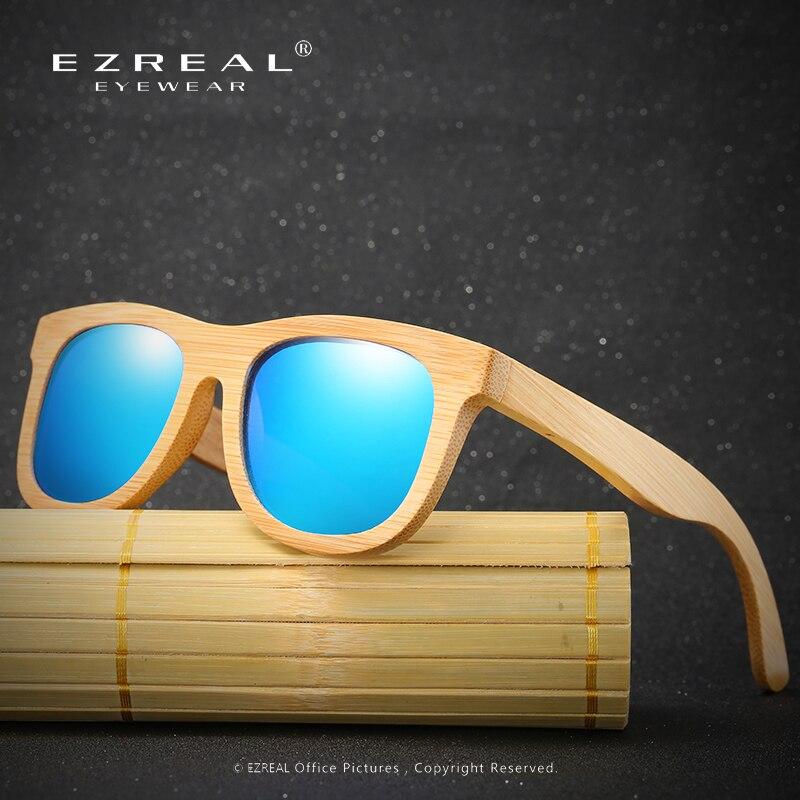 79593ec4de EZREAL lunettes de soleil en bois polarisées marque de bambou lunettes de  soleil Vintage étui en bois lunettes de soleil de plage pour conduire des  gafas de ...