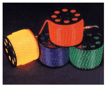 100m/roll LED 4 wires flat rope light;36leds/m;size:11mm*22mm;DC12V/24V/AC110/220V are optional;yellow color