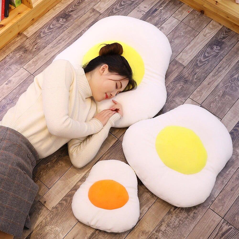 cartoon foam particles nano particles dumplings egg toy pouch egg pillow doll sofa pillow cushion pillow 2 color
