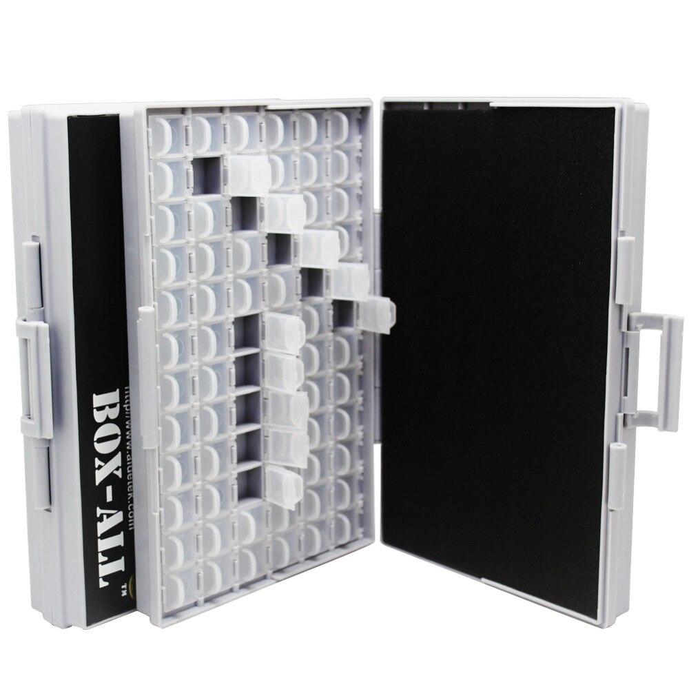AideTek прозрачная коробка корпуса SMD резистор SMT органайзер для конденсаторов 0603 пластиковый ящик для хранения Органайзер для бисера маленький 2BOXALL72
