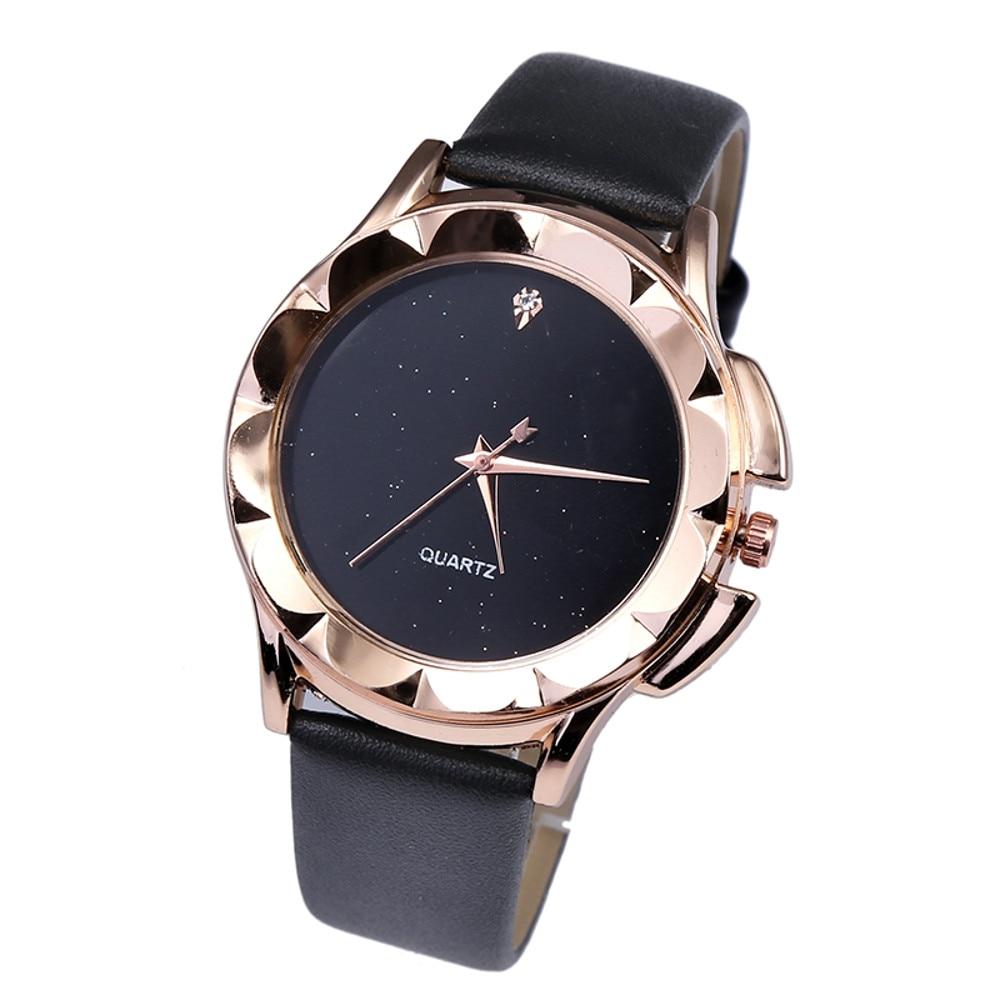 Women's Fashion Casual PU Leather Strap Analog Quartz Round Watch relogio feminino women watches reloj mujer