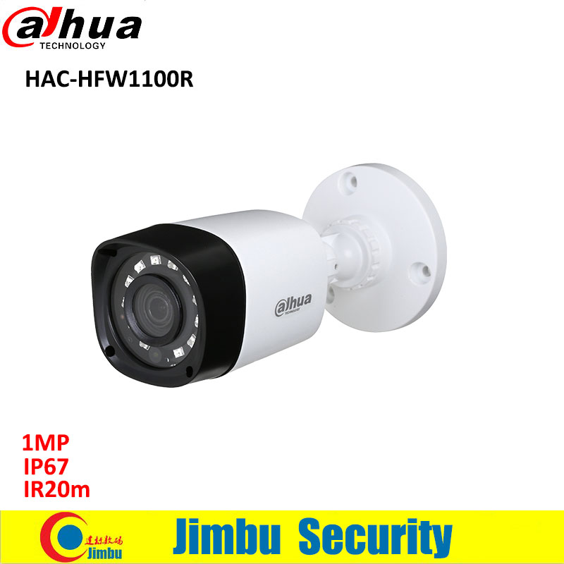 Dahua 1MP HDCVI bullet camera HAC-HFW1100R Water-proof IP67 dahua IR20m CCTV Camera long distance real-time transmission bullet camera tube camera headset holder with varied size in diameter