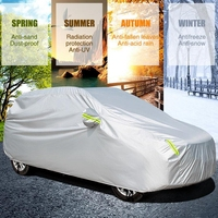 AUDEW Full Car SUV Sun protection Cover Waterproof Auto Outdoor Indoor Snow Dust Rain Resistant Vehicle Cover Fits SUV Car