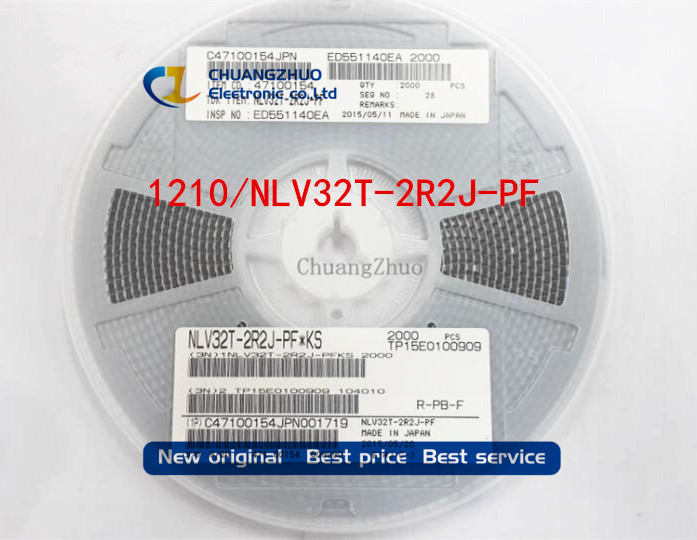 1000pcs  Wirewound Inductors 1210 1UH 1R0 3225 5% Import High-frequency Inductors NLV32T-1R0J-PF