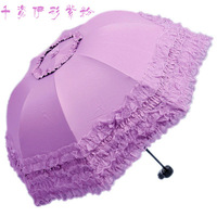 Pagoda Umbrella Vintage Royal Princess Umbrella Candy Colored Lace Parasols Lace Umbrella Pagoda Dress UV Umbrella