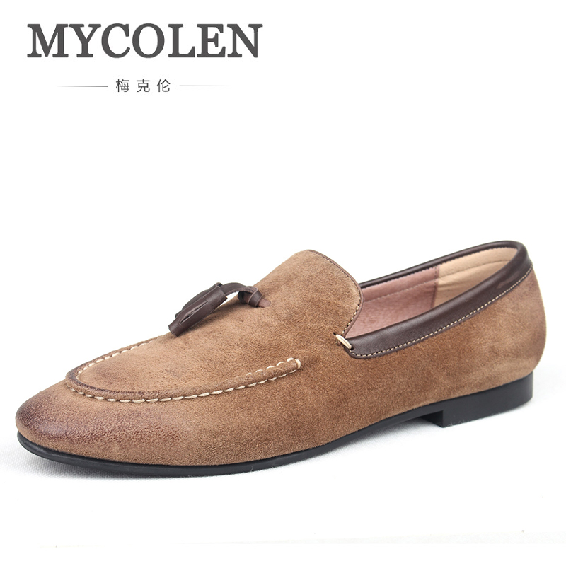 MYCOLEN 2018 Mens Loafer Shoes Luxury Fashion Genuine Leather Summer Casual Slip On Loafers Designer Luxury Driving Moccasins mycolen 2017 new genuine leather mens shoes casual luxury fashion men loafers breathable driving shoes slip on moccasins