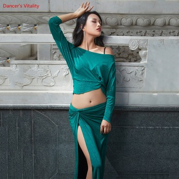 New Lady's/Women Oriental Belly Dance Sexy Set 2pcs Top+Skirt Practice Clothes 2 Piece (Long Skirt Long) - discount item  12% OFF Stage & Dance Wear