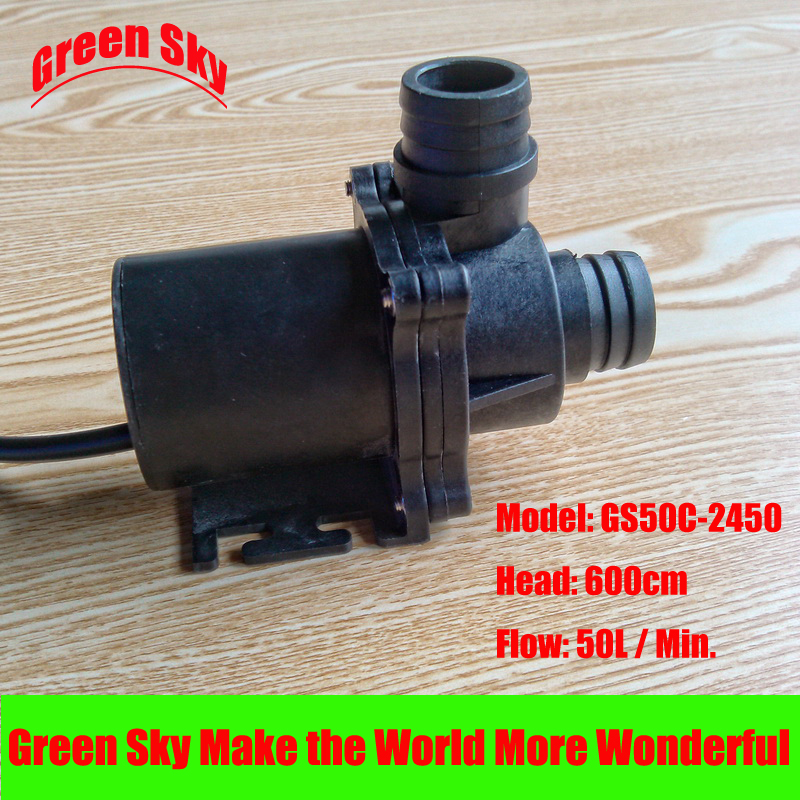 60L/Min 500cm Head 24V DC 86.4W submersible fountain pump water 8 l min electric diaphragm 12v dc mini air pump brush