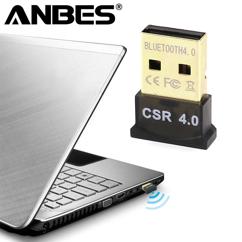 ANBES Wireless USB Bluetooth Adapter for Computer PC Laptop