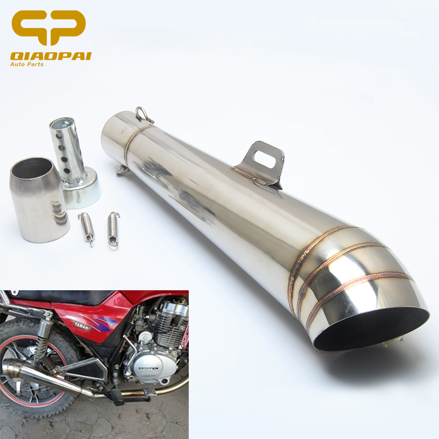 Motorcycle GP Exhaust Muffler 51MM Moto Escape Exhaust Pipe Dirt Bike Motorbike Scooter For Honda CBR250 CB400 CBR600 Z750 ER6N 51mm modified motorcycle exhaust pipe muffler cbr cb400 cb600 z750 z800 tmax530 mt07 gy6 motorbike muffler silencer escape moto