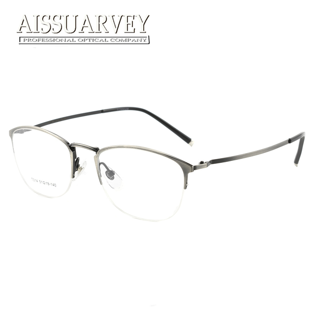 Murni Titanium Bingkai Pria Wanita Putaran Resep Kacamata Setengah Rim  Optik Kacamata Baca Kualitas Atas Komputer c40786dd6c