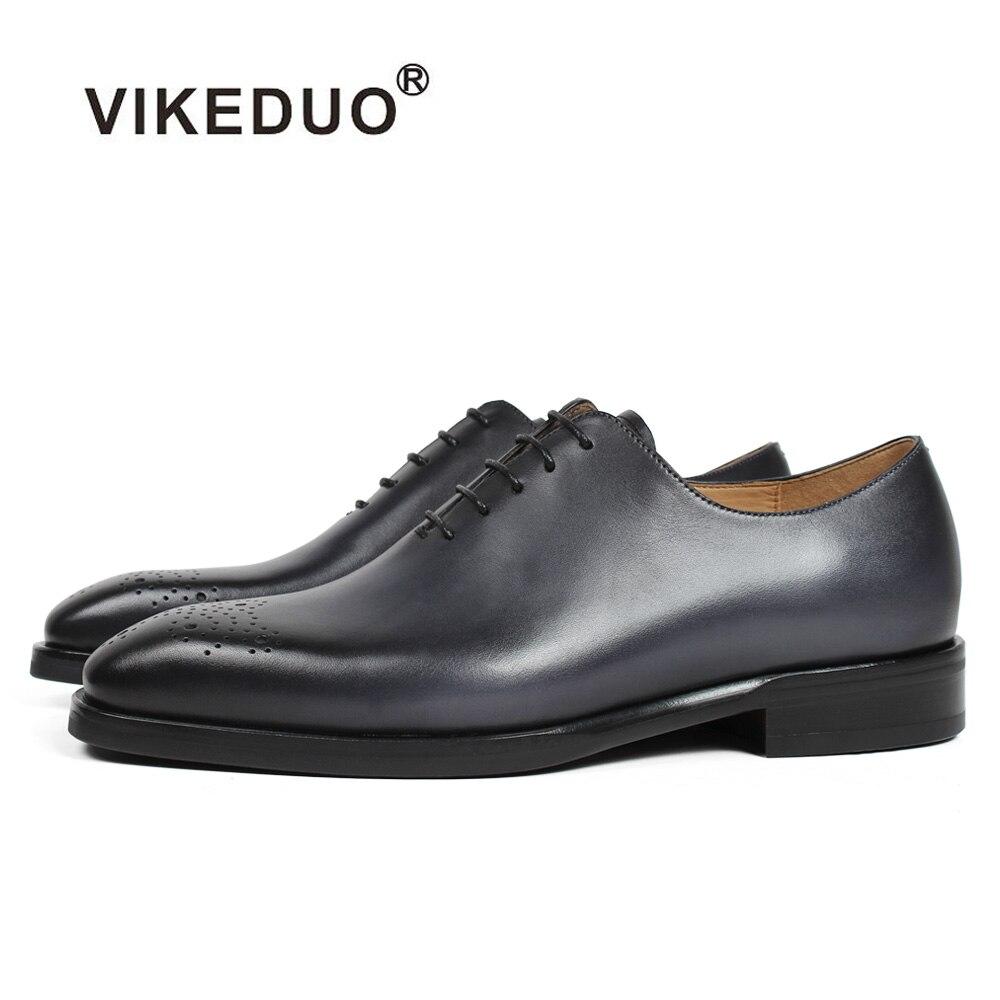 Vikeduo 2019 Handmade Retro Design Shoes Men Luxury Wholecut Wedding Male Oxford Footwear Genuine Leather Man Brogue Dress Shoes