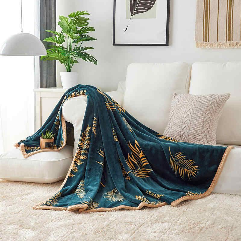 Mantas cálidas para adultos a cuadros de franela de lana de coral de piel sintética mullida raschel de felpa invierno verano manta para el sofá de la cama