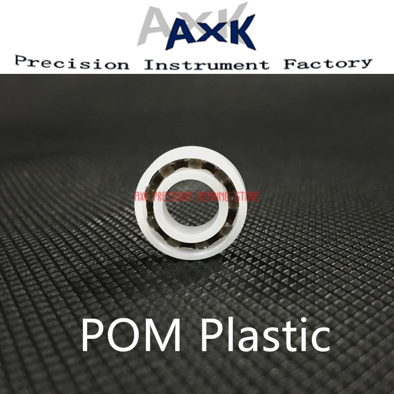 2019 Top Fashion Limited Rodamientos Pom Bearing 634 635 636 638 639 ( 5 Pcs ) Glass Balls Nylon Cage Plastic Ball Bearings