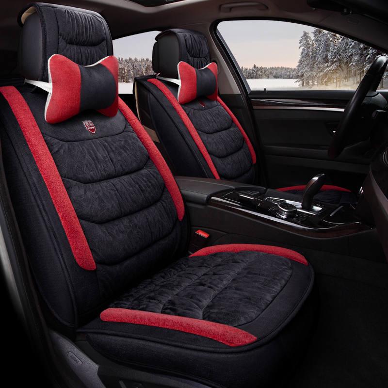 5D Winter Plush Car Seat Cover Cushion For Volkswagen Beetle CC Eos Golf Jetta Passat Tiguan Touareg sharan Car pad