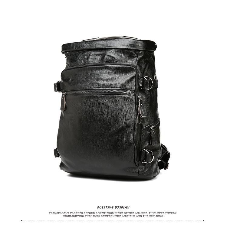 Free shipping 2016 real leather man backpack travel backpack man bag  unisex genuine leather bag