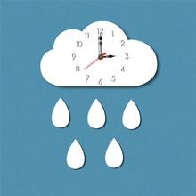 New products on the new cloud creative home cartoon living room decor wall clock Acrylic childrens hanging