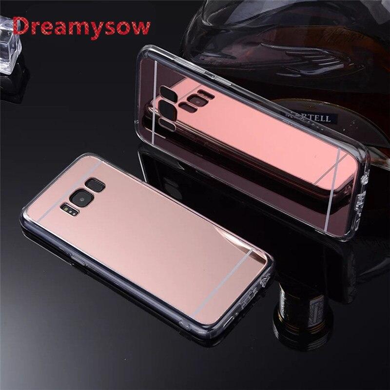 Dreamysow Makeup Mirror Soft TPU Back Cover For Samsung Galaxy S3 S4 S5 S6 S7 Edge Plus A310F A510F A5 A7 J5 J7 Note 3 4 5 Case