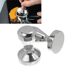 Coffee Barista Espresso Flat Tamper 51mm Base Clear Body Solid Stainless Steel