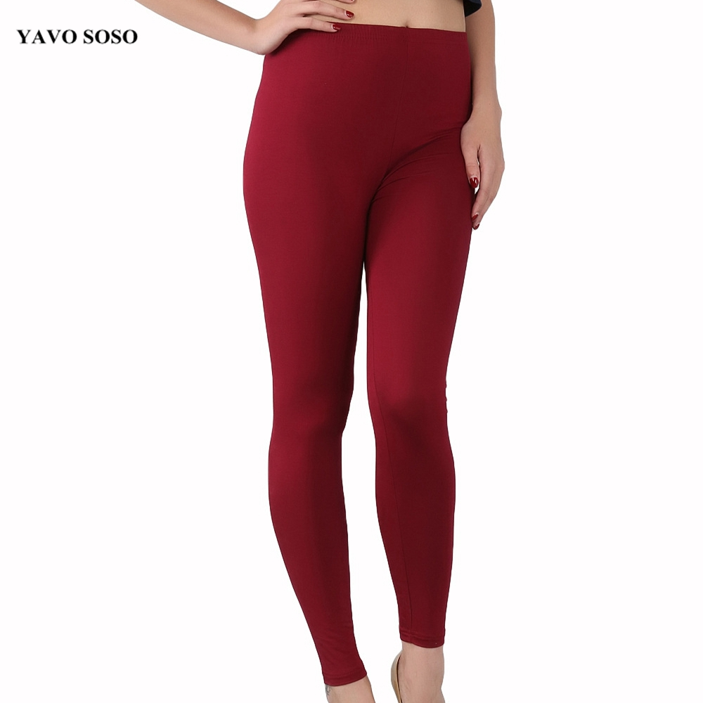 YAVO SOSO New Arrival Fashion Casual bamboo fiber high elastic   leggings   plus size 7XL big size Women's pants