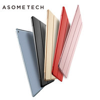 Utra Slim Leather Cover for iPad Pro 12.9 inch Case Translucent TPU Back Cases for Fundas iPad Pro 12.9 With Free Screen Film